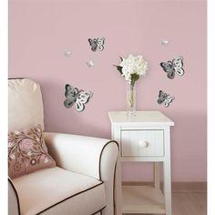 WallPops 3D Butterflies #walldecals  #wallart  #peelandstick  #WallPops  #wallstickers  #decor  #DIY  #decorating