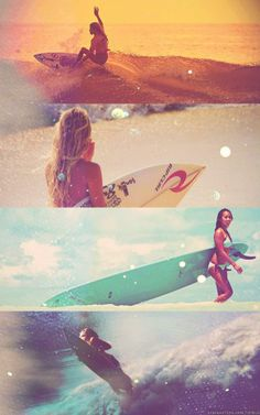 women surfing <3