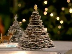 Shimmering Stacked Trees | Step-by-Step | DIY Craft How To's and Instructions| Martha Stewart