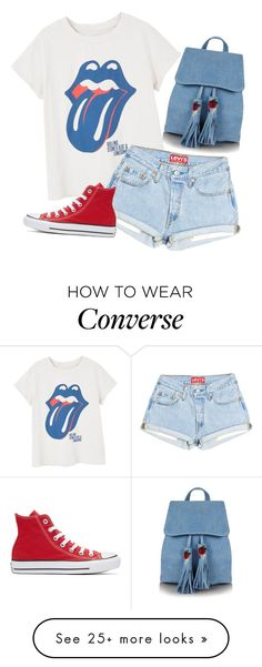 """""""Untitled #2177"""" by pageinabook on Polyvore featuring MANGO, Converse and Topshop"""