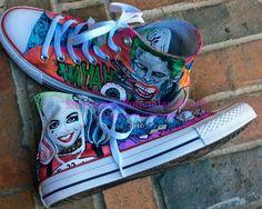 Painted Custom Comic Con Hi Top Converse, Handpainted Sneakers, Movie Actors, Comic, Graffiti Style Pastel Converse, Converse Shoes, Nike Shoes, Custom Painted Shoes, Custom Shoes, Custom Converse, Custom Sneakers, All Star, Painted Sneakers