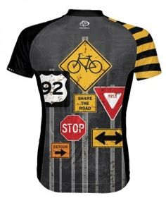 Primal Cycling Jersey - Detour - Mens - Back