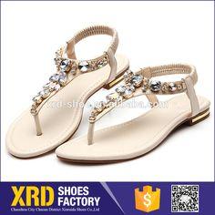 custom women sandals /ladies flat shoes/pu sandal shoes