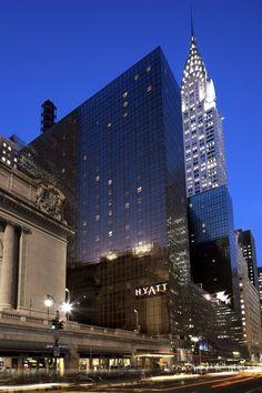 Grand Hyatt New York in the city's bright lights