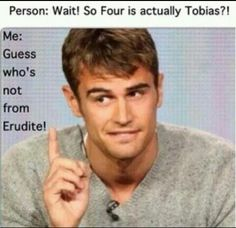 Like i already knew that he was Tobias i could tell