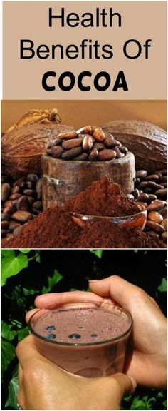 Raw cocoa, in grains, pieces or powder, is considered to be one of the most nutritious foods in the world in terms of its nutritive properties. Therefore, this foodstuff belongs to the Super Food c… Cocoa Drink, Cocoa Tea, Tea Benefits, Health Benefits, Healthy Tips, Healthy Recipes, Healthy Food, Healthy Facts, Health And Wellness
