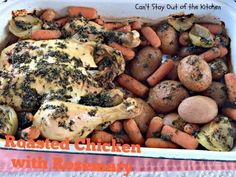 Roasted Chicken with Rosemary - Can't Stay Out of the Kitchen