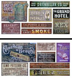 HO Scale Ghost Sign 2-Pack #19 - Great for Weathering Buildings & Structures! #T2Decals