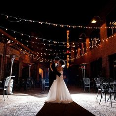 This photo from our wedding still takes my breath away! #wedding #photography #weddingpics #night #lights #athens #georgia #graduateathens