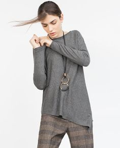 ASYMMETRIC HEM SWEATER-View all-Knitwear-WOMAN | ZARA United States
