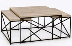Tables en bois et fer forgé  Tables gigognes Originale et tendance