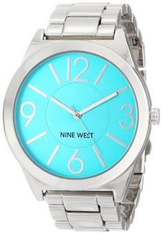 Nine West Women's NW/1585TLSB Turquoise Dial Silver-Tone Bracelet Watch Nine West http://www.amazon.com/dp/B00I5B28OW/ref=cm_sw_r_pi_dp_baCGvb01PP0CV