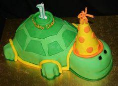 First Birthday Turtle Cake Alphabet Birthday Parties, 1st Birthday Cakes, Boy Birthday, Birthday Ideas, Transformers Cupcakes, Turtle Birthday, Cake Shop, Savoury Cake, Cute Cakes