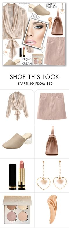 """""""She's a Peach: polka Dots Blouse (Street Style)"""" by jecakns ❤ liked on Polyvore featuring Gucci and BERRICLE"""