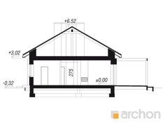 projekt Dom w bazylii 2 przekroj budynku