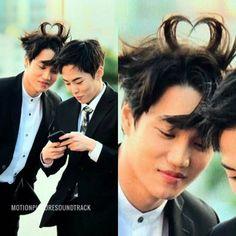 kai cute WTF haha thats so cute and funny Exo Xiumin, Kaisoo, Kpop Exo, Exo Kai, Chanyeol Cute, Exo Memes Funny, Xiuchen, Kim Minseok, Big Bang Top