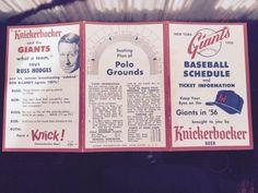 1956 new york giants baseball schedule knickerbocker beer from $9.99