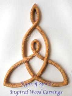 Mother and Child Knot-Carved Celtic Love Knot-Nurturing Motherhood