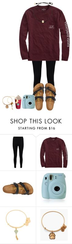 """monday!"" by marthaswilliams ❤ liked on Polyvore featuring Boohoo, Vineyard Vines, Birkenstock, Fujifilm, Alex and Ani and hopeschristmascontest2016"
