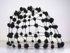 "Wire Dome III  (c) Barbara Gilhooly  annealed steel wire  17"" x 23"" x 22"""
