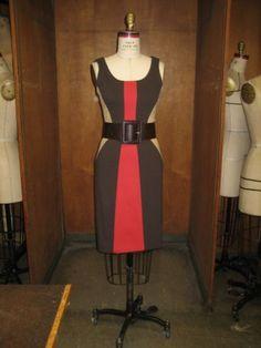 This colorblock knit dress was inspired by the swimwear in Oscar de la Renta's summer 2009 line #wardrobechallenge