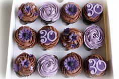Possible cupcakes for my party, TTyyyyy, im thinkin u are going to turn the big hmmmm 21st Birthday Cupcakes, 30th Birthday Parties, Mini Cupcakes, 30 Birthday, Birthday Ideas, 18th Cake, Yummy Eats, Cakes And More, Cake Cookies