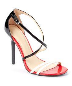 ebf4724fb66 This Black Adele Cross-Strap Heeled Sandal is perfect!  zulilyfinds Strap  Heels