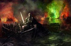 Stannis Baratheon with Lightbrighter, Blackwater by WillHarrisArt.deviantart.com