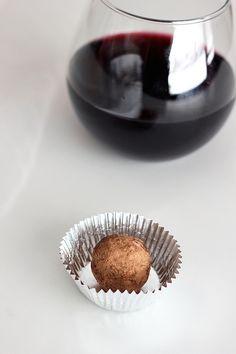 Dark Chocolate Red Wine Truffles - #Gluten-Free + #Vegan