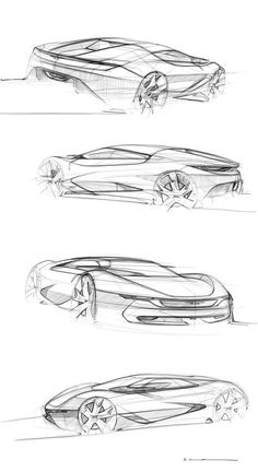 Car sketches by Willian Arthur
