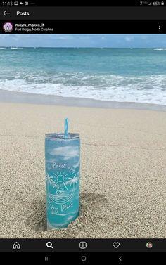 Fort Bragg, Glitter Cups, Tumbler Cups, Tumblers, North Carolina, Beach, How To Make, Crafts, Diy