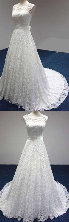 Wedding Dresses 2018 #WeddingDresses2018, 2018 Wedding Dress #2018WeddingDress, Sleeveless Wedding Dress #SleevelessWeddingDress, A-Line Wedding Dress #ALineWeddingDress, Cheap Wedding Dress #CheapWeddingDress, Wedding Dress Lace #WeddingDressLace
