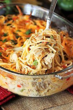 Serving Turketti {aka: Leftover Turkey Spaghetti Casserole} Image