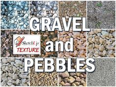 GRAVEL and PEBBLES SEAMLESS TEXTURE COLLECTION http://www.sketchuptexture.com/p/grass.html