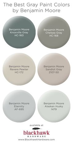 We& in love with these best six gray paint colors by Benjamin Moore The Best. The post The Best Gray Paint Shades by Benjamin Moore appeared first on Bruce Kennels. Interior Paint Colors, Paint Colors For Home, House Colors, Interior Design, Paint Colors For Basement, Interior Paint Palettes, Foyer Paint, Office Paint Colors, Dining Room Paint Colors