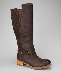 Take a look at this Dark Brown Tall Apley Boot by Timberland on #zulily today!