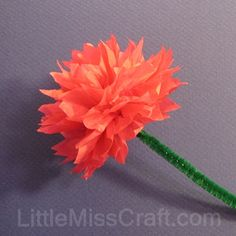 Tissue paper and pipe cleaner flowers are all you need to make this tissue paper and pipe cleaner flowers are all you need to make this spring inspired craft fun crafts and activities for kids mightylinksfo