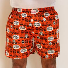 MUCHHIS OF INDIA MEN ORANGE BOXER SHORTS