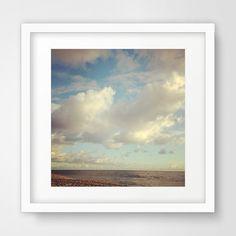 Sky Art Landscape Photography Ocean Art Sea by MelindaWoodDesigns #sky #printableart