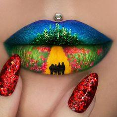 Les créations lip-art de Jazmina Daniel : le magicien d'Oz