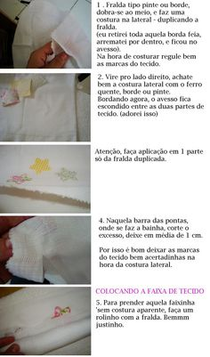 Arte em Panos: Pap de barrado de tecido em fralda 1