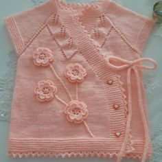 Cute Girls' Choice from Vest Models 39 Baby Knitting Patterns, Free Baby Blanket Patterns, Knitting For Kids, Crochet Patterns, Knitted Baby Blankets, Knitted Shawls, Crochet Baby, Knit Crochet, Baby Coat