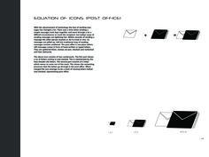 Icon creation for post office. Post Office, Portfolio Design, My Design, College, Branding, Letters, Messages, Portfolio Design Layouts, University