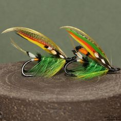 2014.12.13.dryfly green_highlander Fishing Lures, Fly Fishing, Atlantic Salmon, Salmon Flies, Fly Tying, Trout, Streamers, Plant Leaves, December