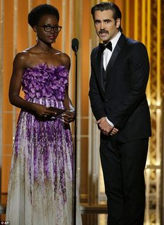 Worldly pairing: Lupita Nyong'o and Colin Farrell presented the award for Best Foreign Fil...