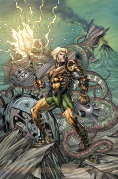 Steampunk Aquaman #28 variant by Richard Horle *