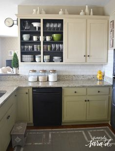 Paint Inside Of Cabinets Fun Bright Color  Kitchen Ideas Best Paint Inside Kitchen Cabinets Design Ideas