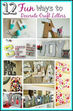Decorating with craft letters! Craft letters are really inexpensive and a fun way to add some whimsy to your home. Here are 12 Fun DIY craft letter decoration ideas to try out!