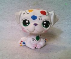Birthday Balloons * OOAK Hand Painted Custom Littlest Pet Shop