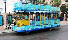 Progreso, Mexico Sightseeing Tour Bus. Authentic view of Mexico. Love it!